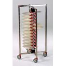 Tellerstapler fahrbar / 48 Teller / 650 x 650 x 1270 mm