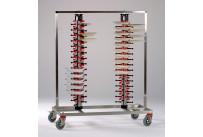 Tellerstapler fahrbar / 120 Teller / 1200 x 600 x 1580 mm