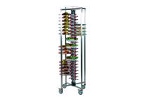 Tellerstapler fahrbar / 84 Teller / 650 x 650 x 1890 mm
