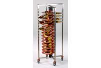 Tellerstapler fahrbar / 60 Teller / 650 x 650 x 1490 mm