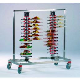Tellerstapler fahrbar / 96 Teller / 1200 x 600 x 1380 mm