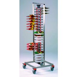 Tellerstapler fahrbar / 84 Teller / 600 x 600 x 1850 mm