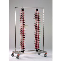 Tellerstapler fahrbar / 168 Teller / 1200 x 600 x 1860 mm