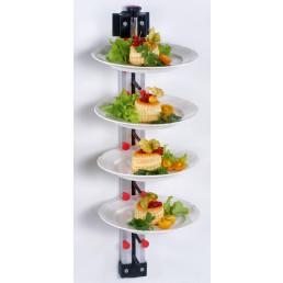 Tellerstapler Wandmodell / 9 Teller / 770 mm hoch