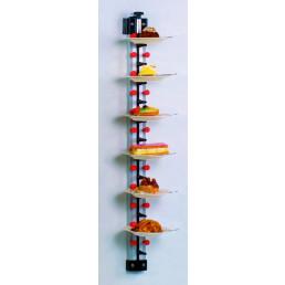 Tellerstapler Wandmodell / 12 Teller / 990 mm hoch