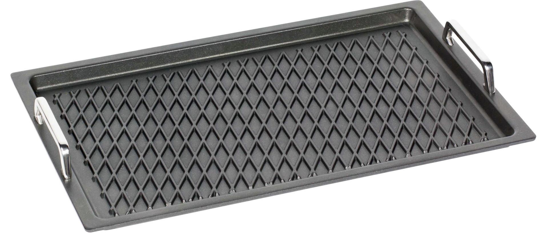 GN-Bratplatte GN 1/1 BBQ-Grillboden mit Griffen 0,10 l / 530 x 330 x 20 mm