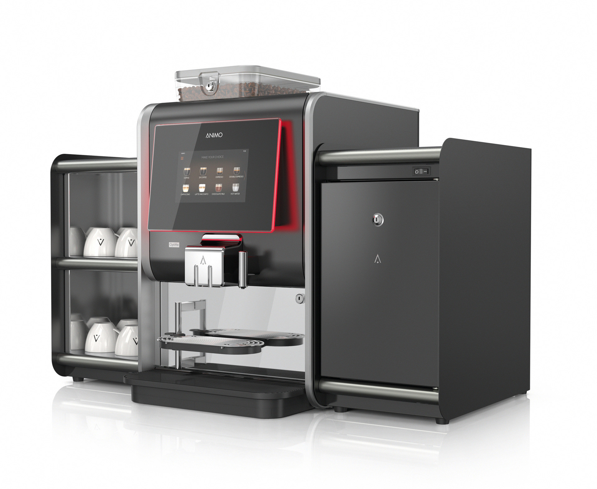 Kaffeevollautomat OptiMe 12 + XL Brüheinheit