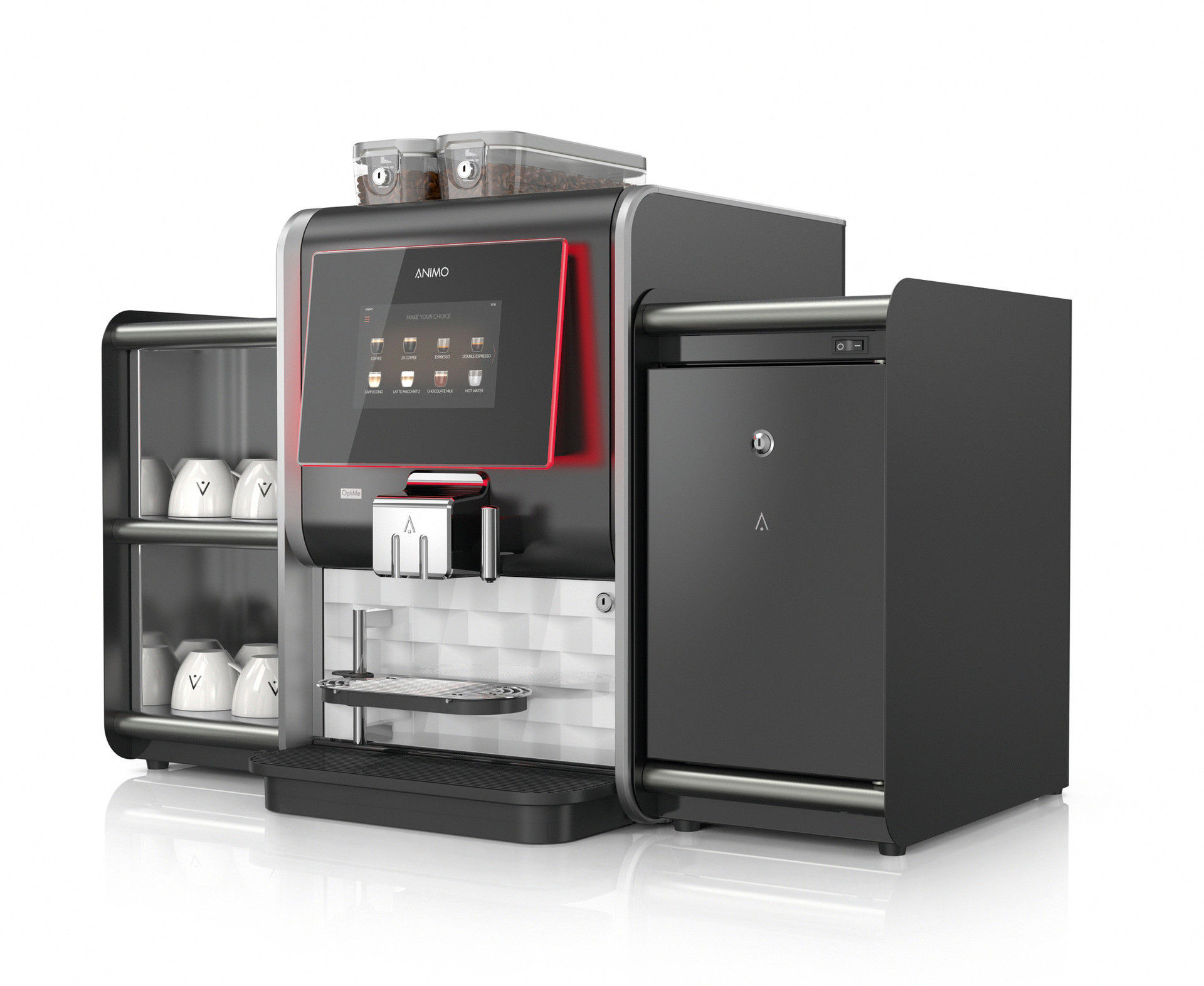 Kaffeevollautomat OptiMe 22 + XL Brüheinheit