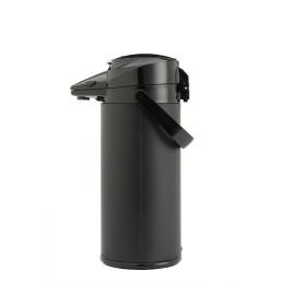 Pumpkanne 2,10 l mit Hebel schwarz mit Glaseinsatz
