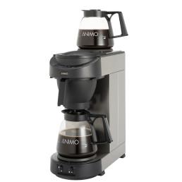 Filterkaffeemaschine 1,80 l schwarz mit 2 Glaskannen / ohne Wasseranschluss