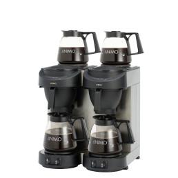 Filterkaffeemaschine 1,80 l schwarz mit 4 Glaskannen / ohne Wasseranschluss