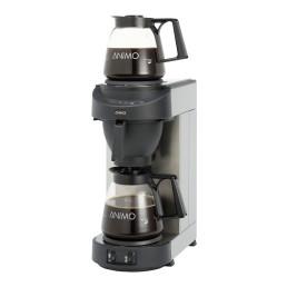 Filterkaffeemaschine 1,80 l schwarz mit 2 Glaskannen / mit Wasseranschluss