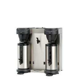 Filterkaffeemaschine 2,40 l schwarz mit 2 Thermosbehälter/mit Wasseranschluss