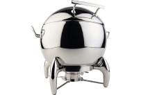 Suppen-Kugel rund + Gestell 10,00 l / ø 480 mm hochglanzpoliert