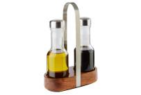Essig- / Öl-Menage 0,20 l / 160 x 75 x 245 mm mit Edelstahldeckel
