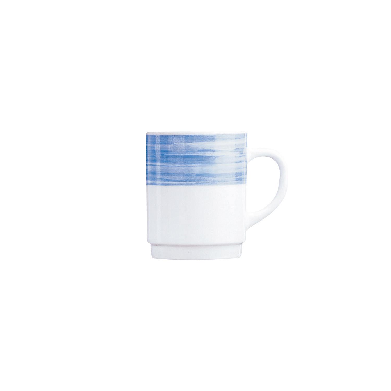 Brush Blue, Bockbecher stapelbar ø 68 mm / 0,25 l blau