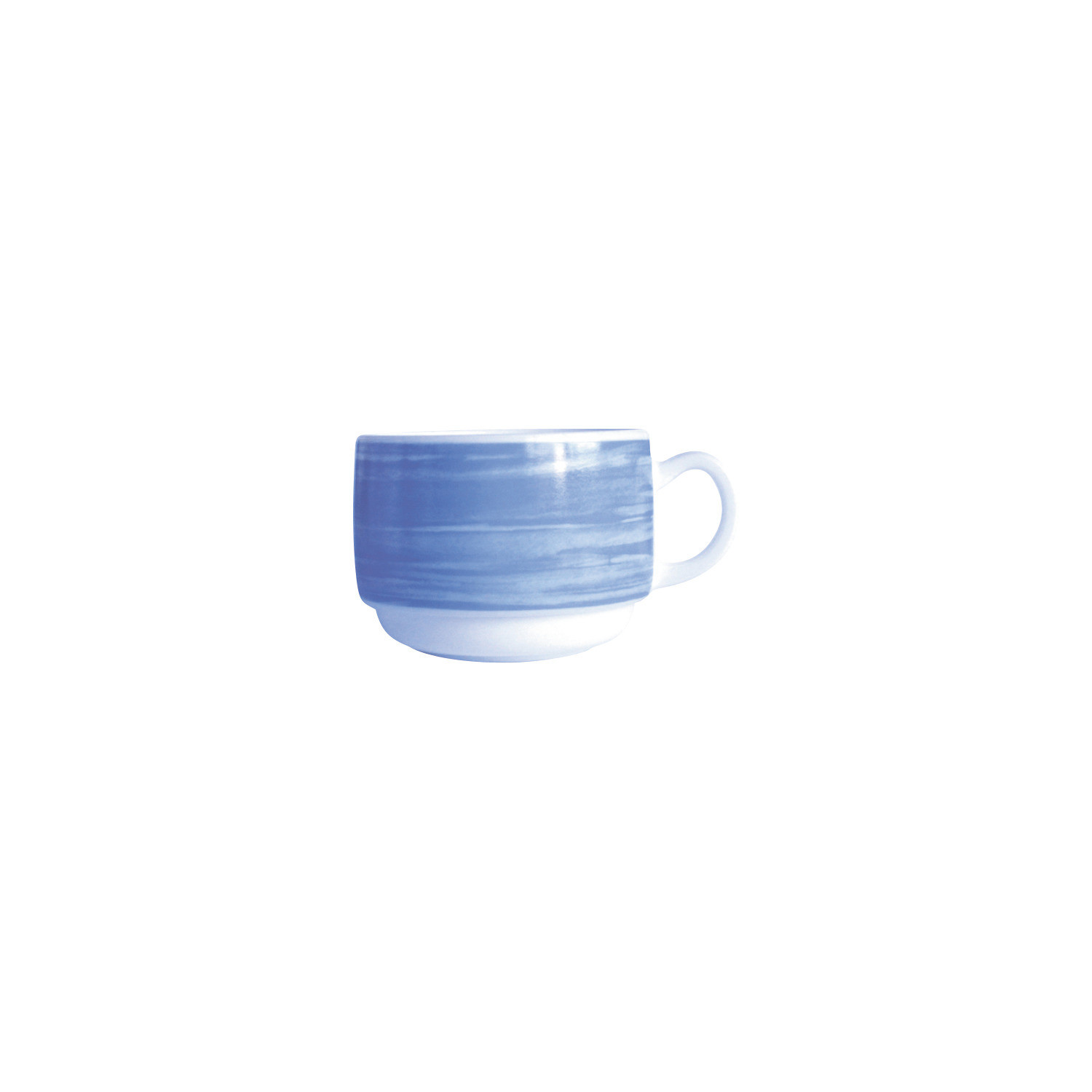 Brush Blue, Gastronomie Tasse stapelbar ø 78 mm / 0,19 l blau