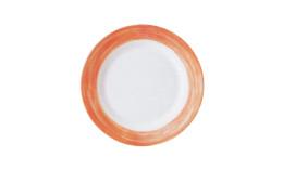 Brush Orange, Restaurant Teller flach ø 250 mm orange