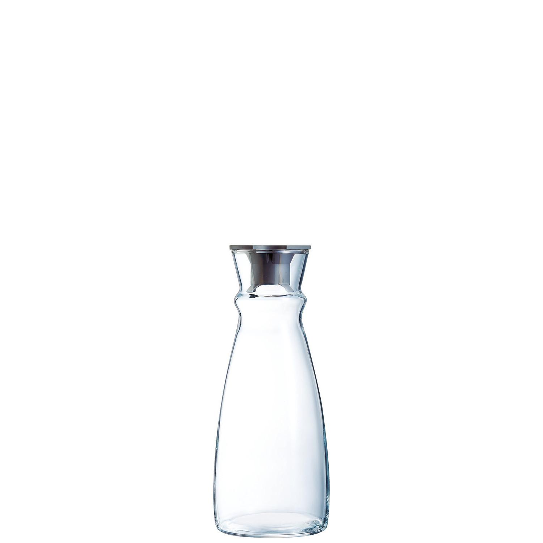 Fluid, Karaffe mit schwarzem Kunststoffdeckel ø 91 mm / 0,62 l
