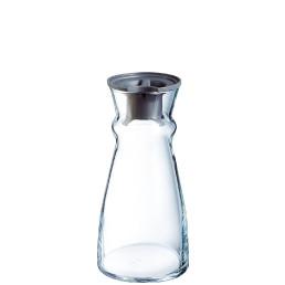 Fluid, Karaffe mit schwarzem Kunststoffdeckel ø 107 mm / 1,10 l