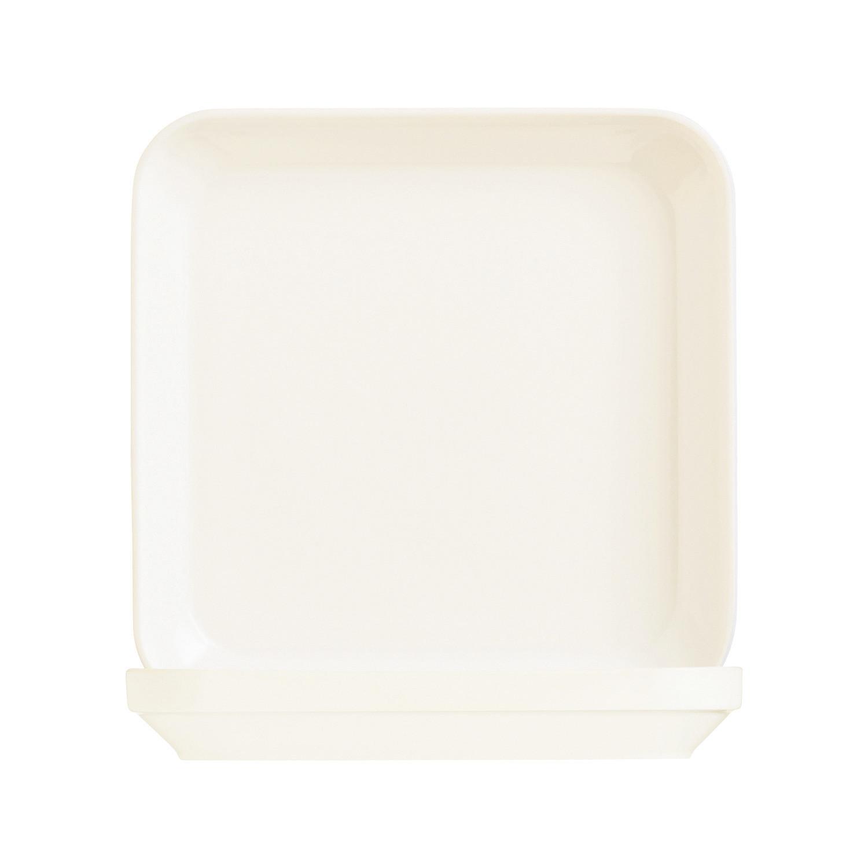 Mekkano, Teller quadratisch 240 x 240 mm cremeweiß