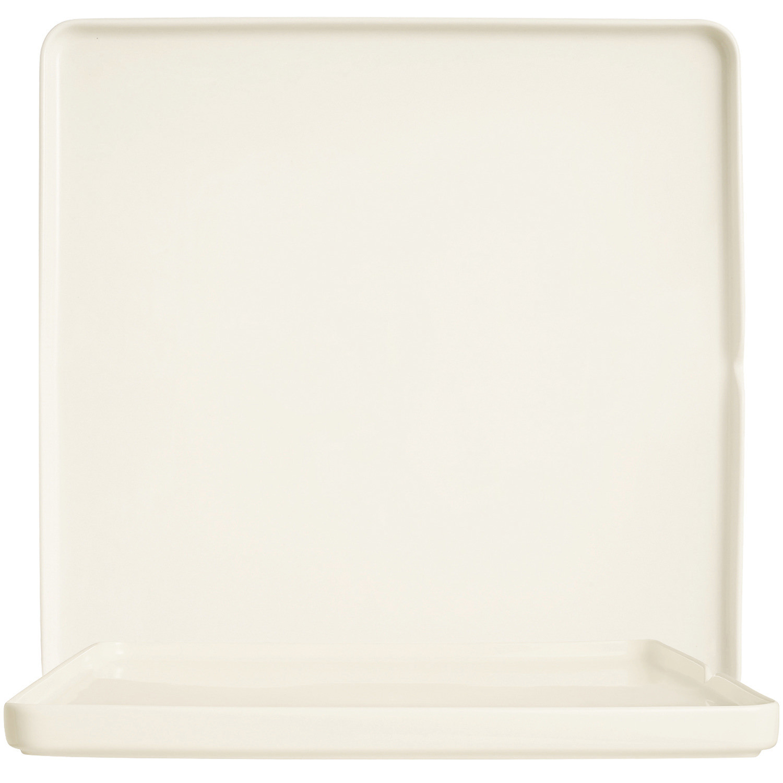 Mekkano, Quadratteller flach 310 x 310 mm / cremeweiß