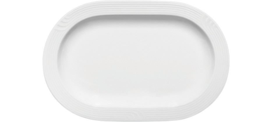 Carat, Platte oval tief mit Fahne 233 x 152 mm