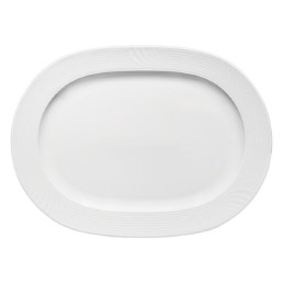 Carat, Platte oval mit Fahne 324 x 240 mm
