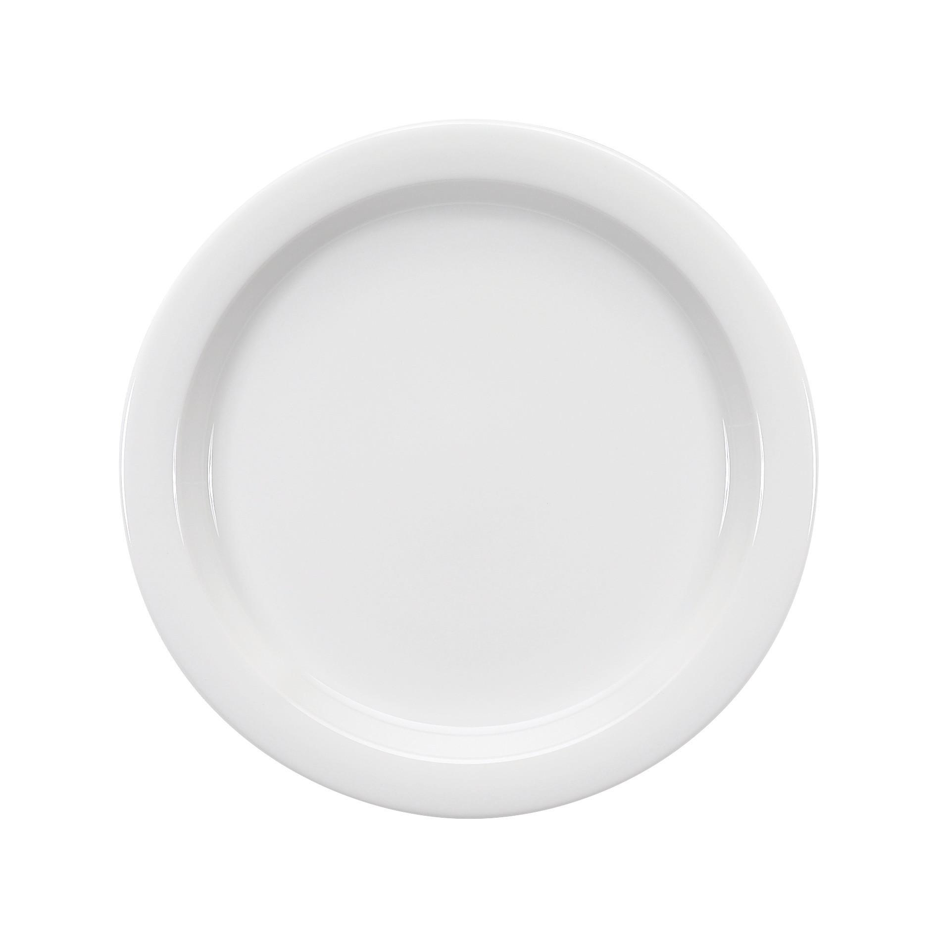 Dimension Invita, Spezialteller halbtief mit Fahne ø 257 mm weiß