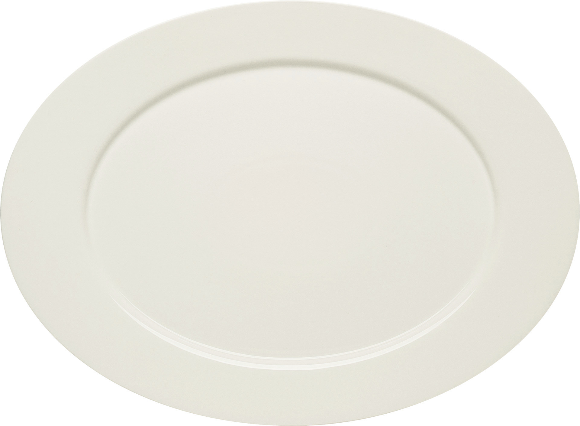Purity, Platte oval mit Fahne 379 x 278 mm