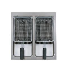 Elektro-Einbaufritteuse 2 x 12,00 l / BFEM60/2 / 24,00 kW / 600 x 600 mm
