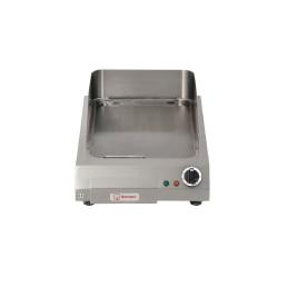 Elektro-Bratplatte glatt / 1 Heizzone / Bratfläche 320 x 520 mm / Auftischgerät
