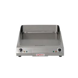 Elektro-Bratplatte glatt / 2 Heizzonen / Bratfläche 520 x 520 mm / Auftischgerät