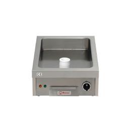 Elektro-Bratplatte glatt / 1 Heizzone / Bratfläche 340 x 540 mm / Auftischgerät