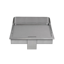 Elektro-Bratplatte glatt / 2 Heizzonen / Bratfläche 520 x 520 mm