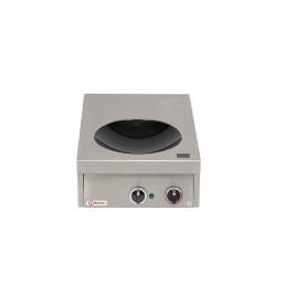Induktions-Wok mit Ceranglasschale / 1 Heizzone / Cuvette ø 300 mm / 5,00 kW