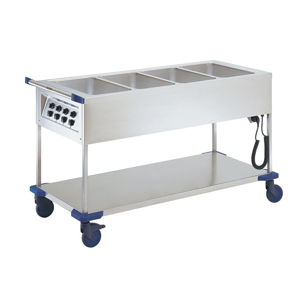 Speisenausgabewagen 4 x GN 1/1 / mit Temperaturregler / beheizt