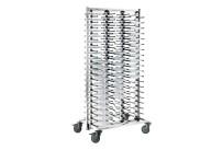 Tellerstapelsystem fahrbar / für max. 120 Teller / Rollen stahlverzinkt