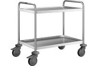 Servierwagen 2 Borde / 600 x 400 mm / mit Kunststoff Rollen