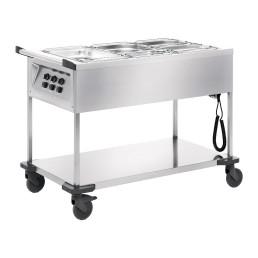 Speisenausgabewagen 3 x GN 1/1 / mit Temperaturregler / beheizt