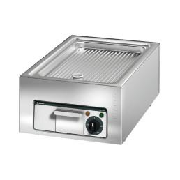 Elektro-Grillplatte gerillt / Bratfläche 506 x 304 mm / Auftischgerät