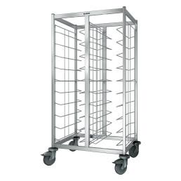 Tablett-Abräumwagen 2-teilig / für 20 GN-Tabletts / mit Kunststoffrollen