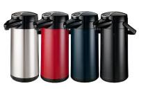 Isolierkanne Furento 2,20 l / mit Druckhebel / mit Glaseinsatz, CNS