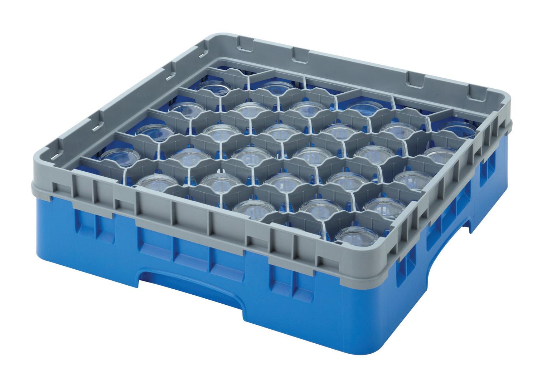 Gläserspülkorb 25 x bis 174 mm Glashöhe 500 x 500 x 225 mm marineblau