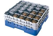 Gläserspülkorb 49 x bis 258 mm Glashöhe 500 x 500 x 308 mm blau
