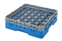 Gläserspülkorb 36 x bis 90 mm Glashöhe 500 x 500 x 143 mm marineblau