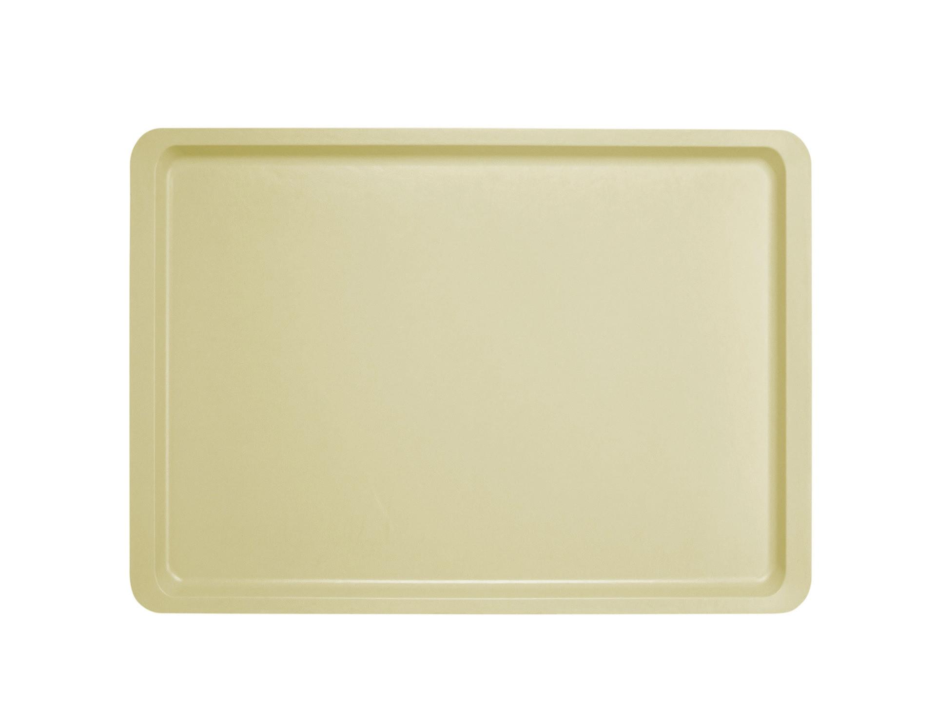 Tablett Polyester Versa glatt 425 x 325 mm perlweiß