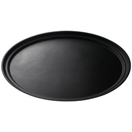 Camtread-Tablett oval 490 x 590 schwarz