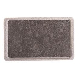 GN-Tablett Polyester Deko glatt GN 1/1 530 x 325 mm Titan auf granit