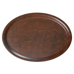 Tablett Pressholz oval 230 x 160 mm